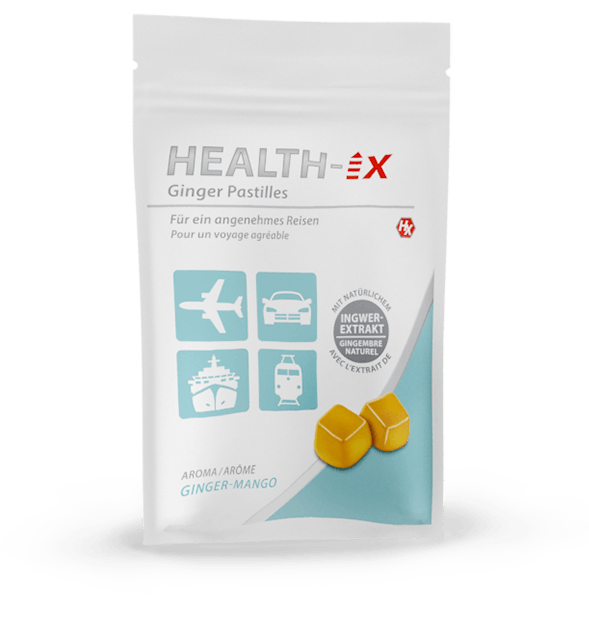 Product packaging of the Health-iX Ginger Pastilles