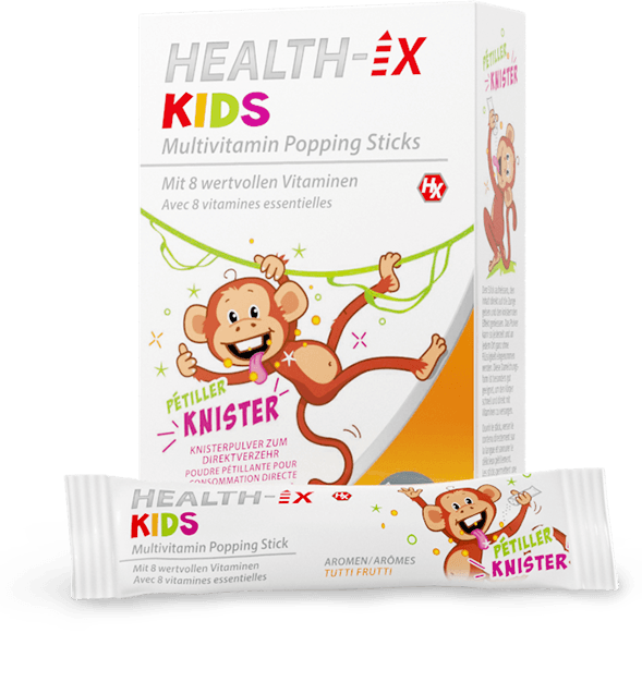Produktverpackung der Health-iX Multivitamin Popping Sticks